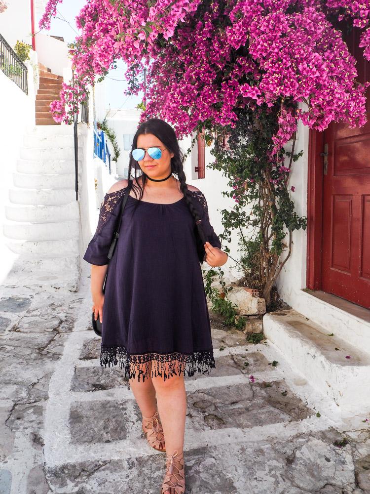 Anatea wandering in Mykonos